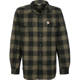 Carhartt Hubbard Slim Fit Flannel Shirt Men, burnt olive